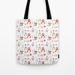 Winder Snowman Love Tote Bag