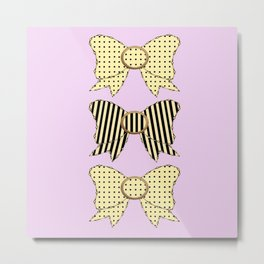Vintage Bows part 4  Metal Print