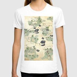 Hand Drawn Pirate Map T-shirt