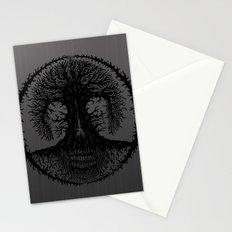 romkalah, black Stationery Cards