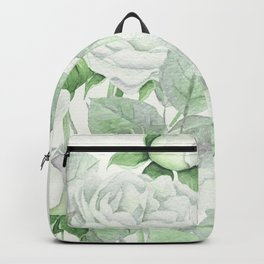 Bouquet Of Pastel Green Roses Backpack