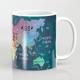 world map 49 color Coffee Mug
