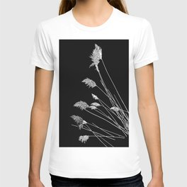 Dry Reeds on Black T-shirt