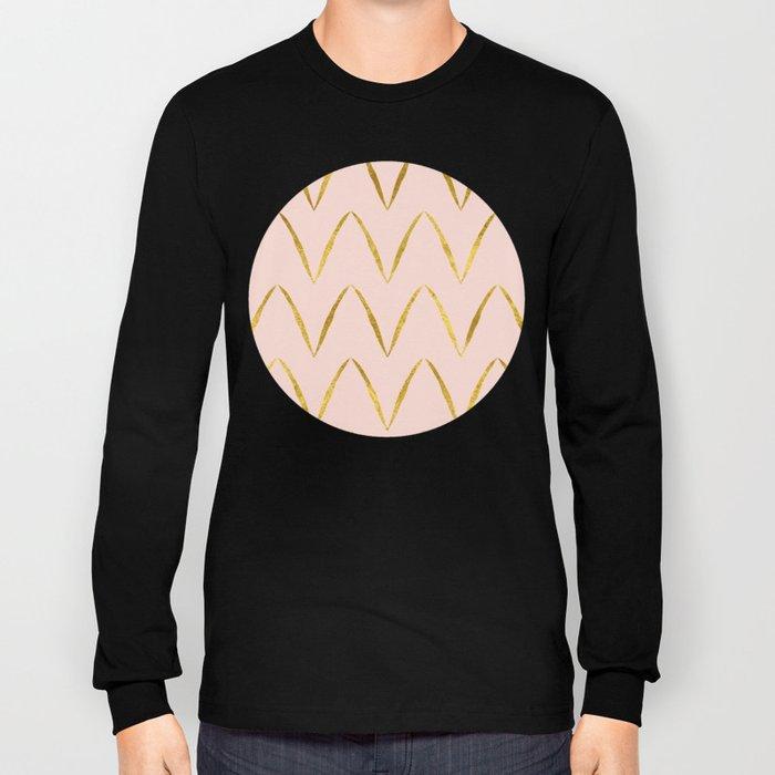 Pink Gold Foil 05 Long Sleeve T-shirt