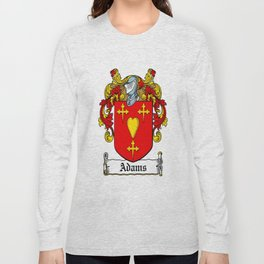 Family Crest - Adams - Coat of Arms Long Sleeve T-shirt
