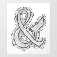 ampersand Art Prints featuring Ampersand by Laura Maxwell