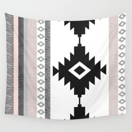 Pueblo in Pink Wall Tapestry