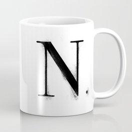 N. - Distressed Initial Coffee Mug