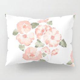 Peach floral Pillow Sham