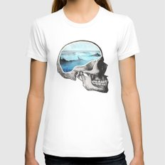 Brain Waves Womens Fitted Tee LARGE White