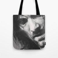 aragorn Tote Bags featuring Aragorn by Alba Palacio