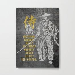 Virtues of Samurai Metal Print