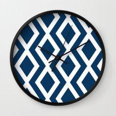 Navy Diamond Wall Clock