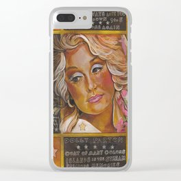 Dolly Parton Clear iPhone Case