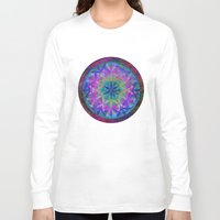 flower of life Long Sleeve T-shirts featuring Flower of Life 3 by Klara Acel