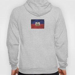 Old and Worn Distressed Vintage Flag of Haiti Hoody