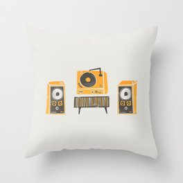 Vinyl Deck And Speakers Throw Pillow