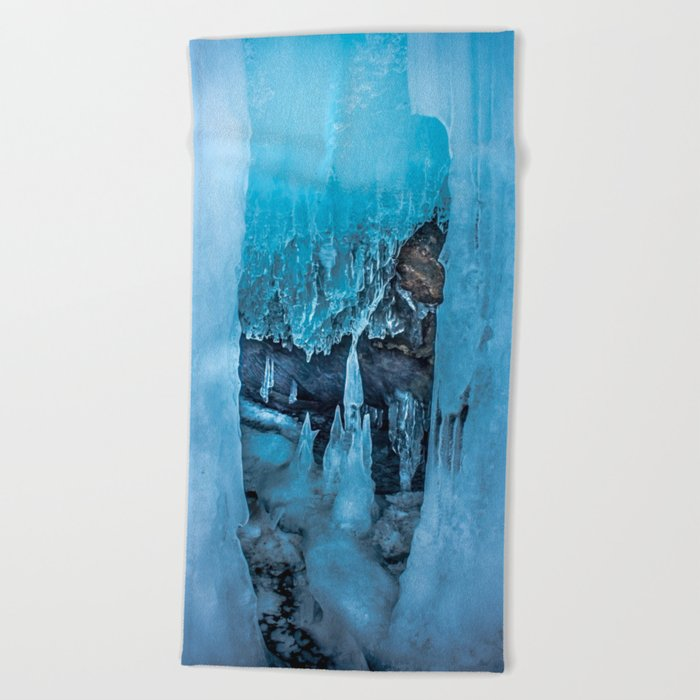The Ice Palace Beach Towel