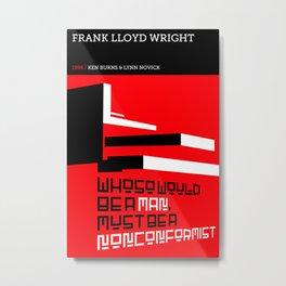 Frank Lloyd Wright Metal Print