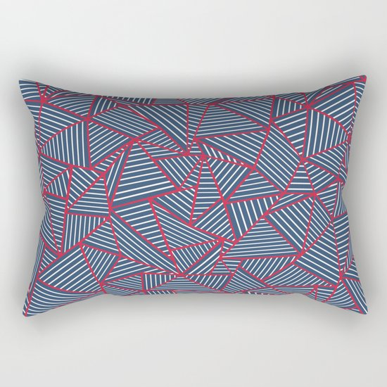 Ab Out Navy Red Rectangular Pillow