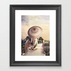 Girl with Parasol Framed Art Print