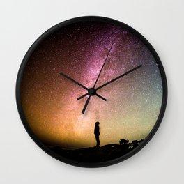 silhouette man stars Wall Clock