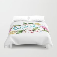 April Flowers Duvet Cover