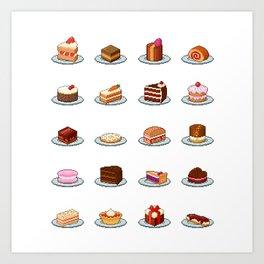Pixel Cakes Art Print