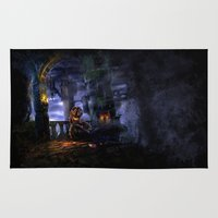castlevania Area & Throw Rugs featuring Castlevania: Vampire Variations- Bridge by LightningArts