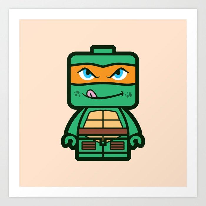 Chibi Michelangelo Ninja Turtle Kunstdrucke