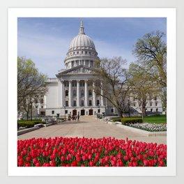 Capitol Spring 1, Madison Wisconsin Art Print