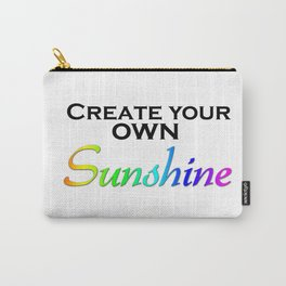 Create Your Own Sunshine Quote Carry-All Pouch