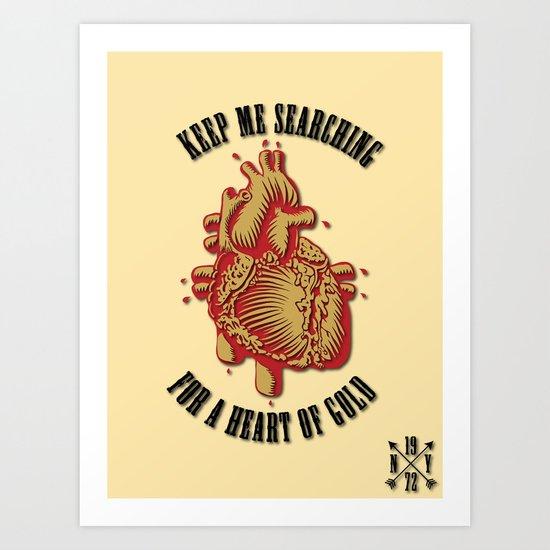 """Heart of Gold""  (""ANALOG zine"") Art Print"