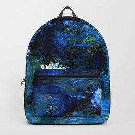 monet water lilies 1899 blue Teal Backpack