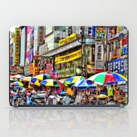 korean iPad Cases featuring Korean Rain (Painted Version) by Anthony M. Davis