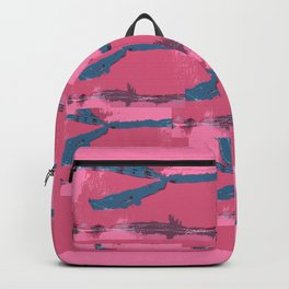Pink Silk Barbed Wire, fiber art mixed media, abstract Backpack