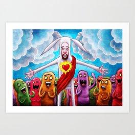 Bunny Christ Supah Stah Art Print