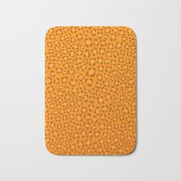 Wild Thing Orange Leopard Print Bath Mat