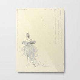 Faerie Dancer - Original Ink and Oil Drawing Metal Print