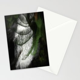 Fern filtering Waterfall Stationery Cards