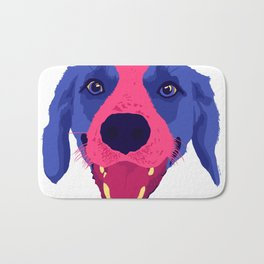 beagle - wht Bath Mat