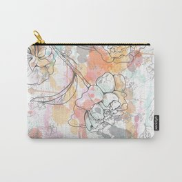 Color splashed flowers Carry-All Pouch