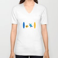 aperture V-neck T-shirts featuring Aperture Time! by Chance L
