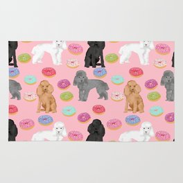 Toy Poodle donuts pet portrait dog breed dog pattern pet friendly dog lovers Rug