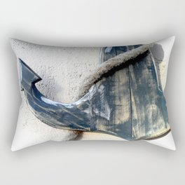 Wood Anchor and Rope Rectangular Pillow
