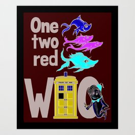 Doctor WHO Fish Art Print