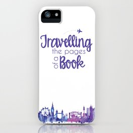 Travelling the Pages iPhone Case