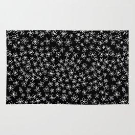 Flowers on Black Rug