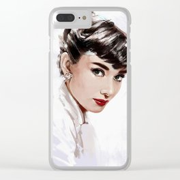 Audrey Clear iPhone Case