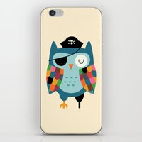 captain iPhone & iPod Skins featuring Captain Whooo by Andy Westface